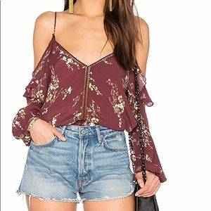 ASTR the label Chantal top in burgundy floral